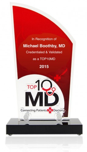 Dr Boothby award Orthopedic Surgeon Fort Worth