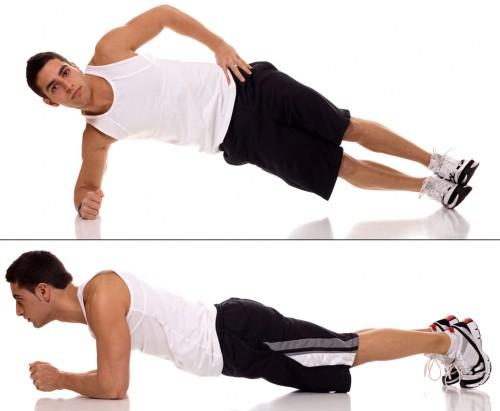 Forearm Plank, Side Forearm Plank:
