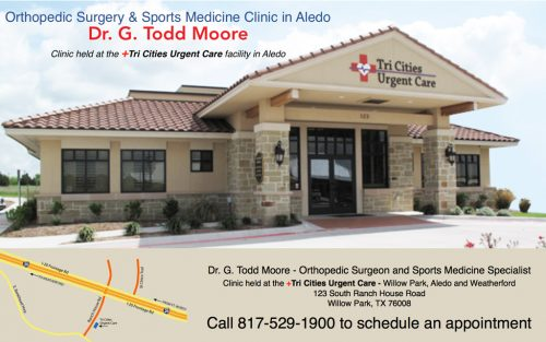 Dr. Todd Moore holds clinic weekly at the Tri Cities Urgent Care facility.
