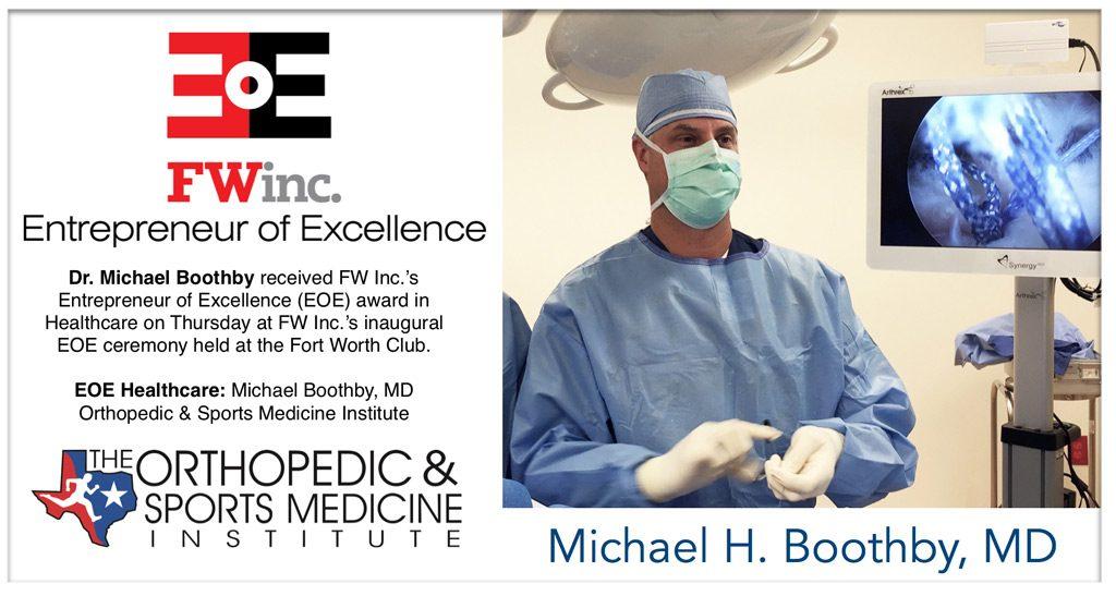 Entrepreneur of Excellence (EOE) Award Healthcare: Dr. Michael Boothby