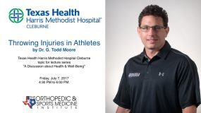 Throwing Injuries in Athletes by Dr. G. Todd Moore