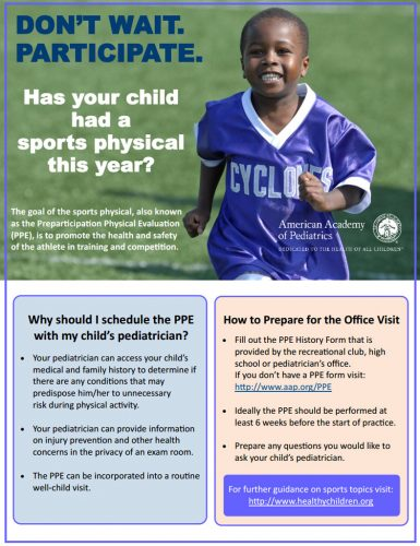 OSMI Sports Physicals and American Academy of Pediatrics