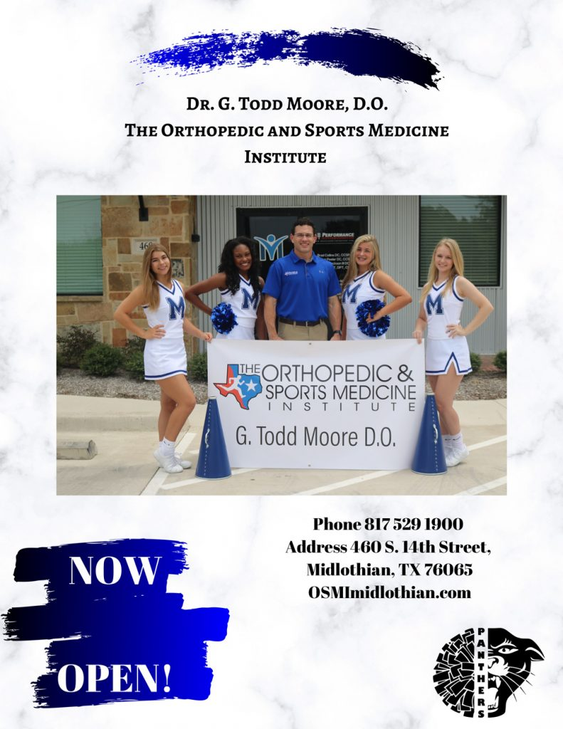 Dr. Todd Moore at Orthopedic and Sports Medicine Institute – Midlothian Office 460 South 14th Street, Midlothian, TX 76065